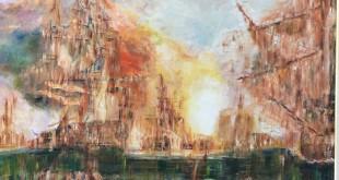 Bela Poniz - Pomorska bitka - ulje