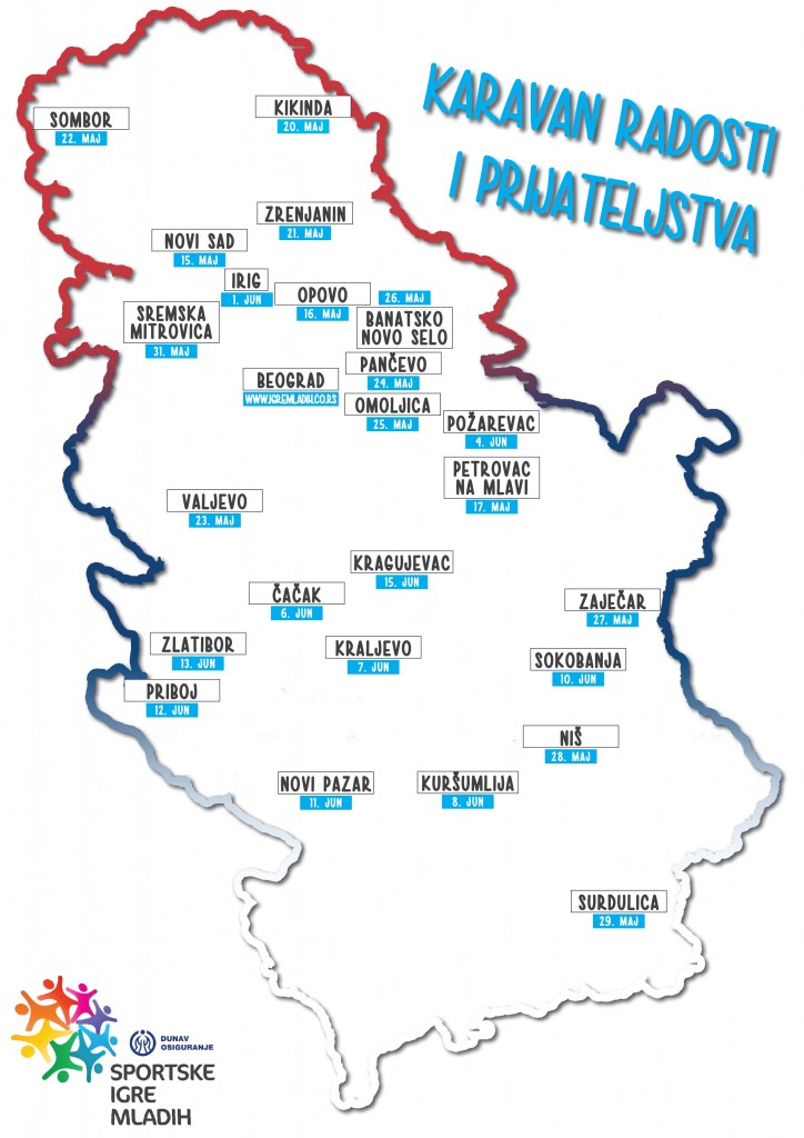Karta Srbije_Karavan radosti i prijateljstva_SIM4.indd