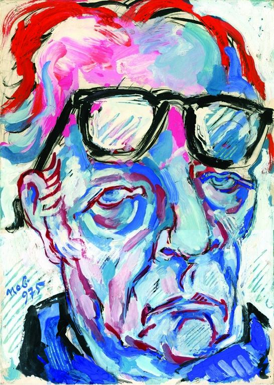 A. Deroko, Autoportret u plavom 1975, vl. SANU