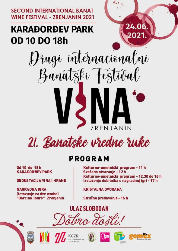 Banatski festival vina PLAKAT 2021