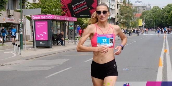 Zrenjanin - Biljana Kiridžijeva maratonka kluba AS 023 iz Zr na skopskom maratonu foto lična arhiva