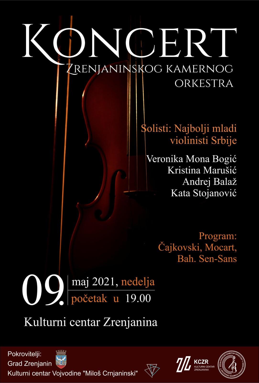 zrenjaninski kamerni orkestar koncert 9. maj 2021.