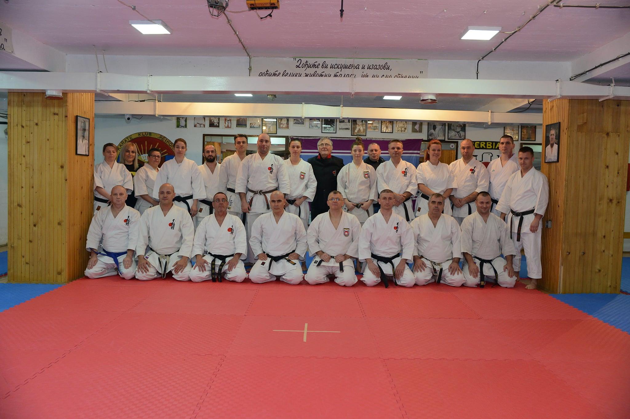 Sensei Ilija Jorga sa sudijama i trenirima FSS